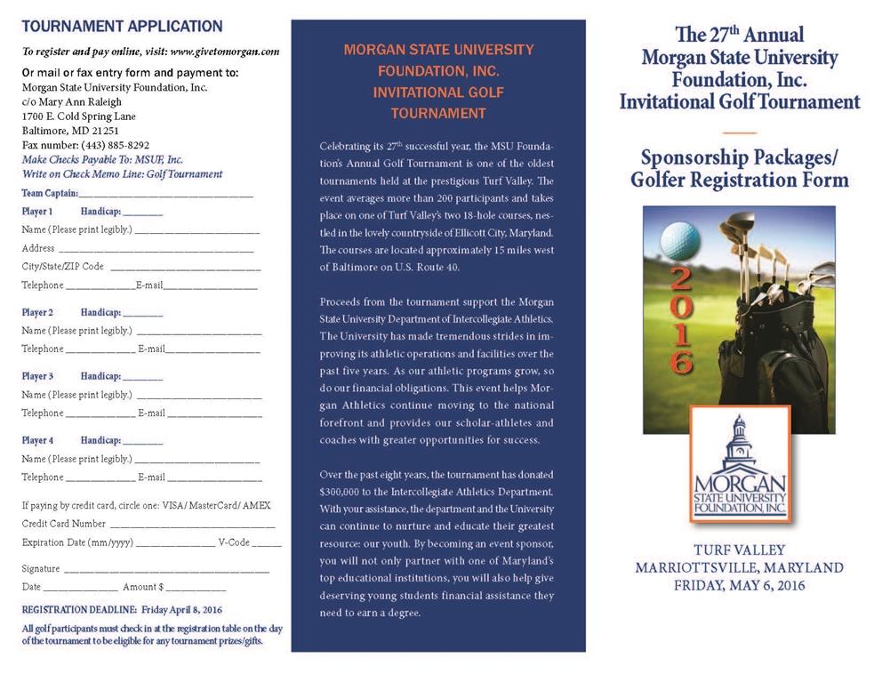 Msuaa  Msu Foundation Inc Th Invitational Golf Tournament
